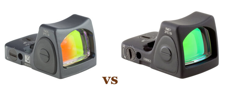RM06 vs. RM07 Reflex Sight